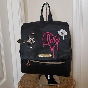 Betsey Johnson black backpack